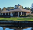 The clubhouse at Hilton Head National Golf Club sits in an idyllic spot.
