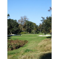 The par-3 11th hole on the Hills Course at Palmetto Dunes Resort plays 186 yards from the back tees.