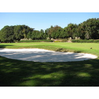 Port Royal Golf Club's putting green is large, with a sand area next to it to hone your sand saves.