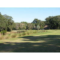 The 10th hole at the Barony Course at Port Royal Golf Club on Hilton Head Island requires an accurate tee shot.