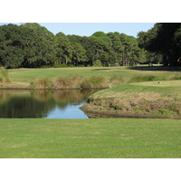The 11th hole on Barony Course at Port Royal Golf Club is the most interesting, with a watery tee box, a ditch mid-fairway and a tree in the middle.