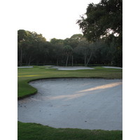The finishing hole on the Barony Course at Port Royal Golf Club has a lot of sand, but next to an expansive fairway.