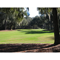 From the very start, trees push in close at Harbour Town Golf Links.
