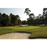 Nos. 17 and 18 (shown here) at Oyster Reef golf Club are long par 4s in the 400-yard range.