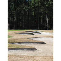 Rees Jones made artwork of his bunkers at Oyster Reef Golf Club.