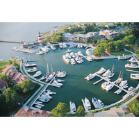 Next to the lighthouse, the Harbour Town marina is a favorite place to dock on Hilton Head Island.