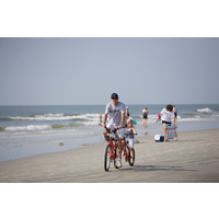 Hilton Head Island is a bike-friendly place to ride with kids on beaches and paths.