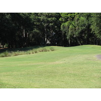 The approach to the ninth hole at Robber's Row at Port Royal Golf Club puts water and mounds in your way.