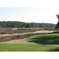 Many of the par 3s on the Nicklaus course at Colleton River Plantation Club are amid a marsh.