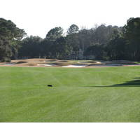 The par-5 10th hole on the Nicklaus course at Colleton River Plantation Club requires two skips over bunkers.