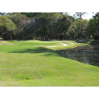 The par-3 17th hole on the Dye course at Colleton River Plantation pretty much rejects anythng short.