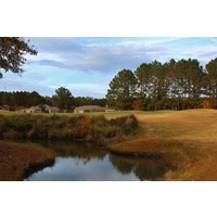 This pond sneaks into play near the sixth green at Hidden Cypress Golf Club in Bluffton, S.C.