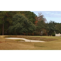 Steep faces make for dangerous bunkers at the Oldfield Golf Club in Okatie, S.C.