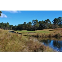 The thrilling sixth hole at Hilton Head National Golf Club is one of the best par 4s in Bluffton, S.C.
