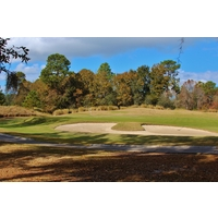 The second hole at Hilton Head National Golf Club features a unique green complex.