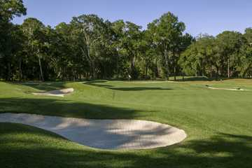 A view of hole #2 at Pete Dye Course from Colleton River Club.