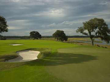A view of the 16th hole at Secession Golf Club