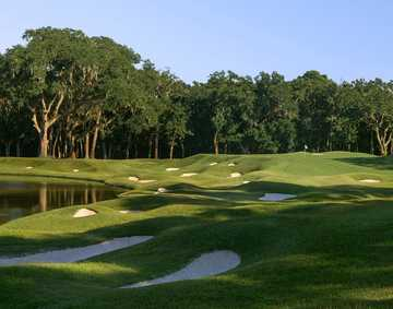 A view of the 3rd green at Dye from Colleton River Club.