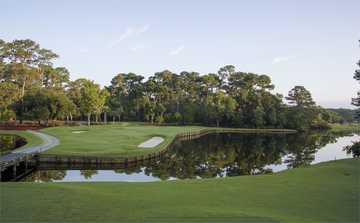 View of the 4th hole from the Heron Point at Sea Pines Resort